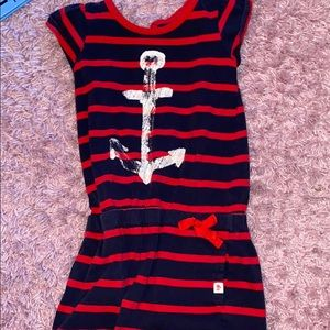Red and blue stripe anchor dress
